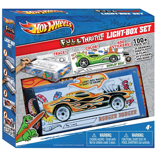 Hot Wheels Full Throttle Light Box Design Set Fashion Angels Bens