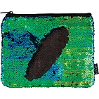 Mermaid/Black Magic Sequin Zip Pouch