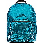 S. Lab Magic Sequin Backpack- Turq/Silver