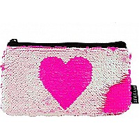 Magic Sequin Heart Reveal Pencil Pouch