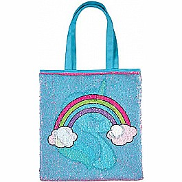 Magic Sequin Unicorn/Rainbow Reveal Tote Bag
