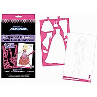 """hollywood Glamour"" Compact Fashion Design Sketch Portfolio"