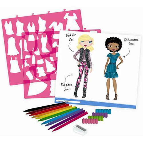 Fashion Design Sketch Portfolio Artist Set Olde Towne Toys