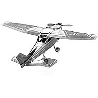 Fascinations Metal Earth Cessna 172 Airplane 3D Metal Model Kit