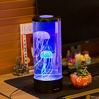 "Electric Jellyfish Mood Light - Plugs In (Dimensions: 14""High X 5""Round)"