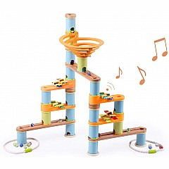 Bamboo Builder Marble Run- 127pcs Music