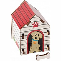 Build It Blueprint Puzzles - DOG HOUSE