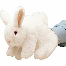 White Bunny Hand Puppet