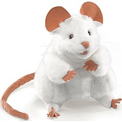 Mouse, White Hand Puppet