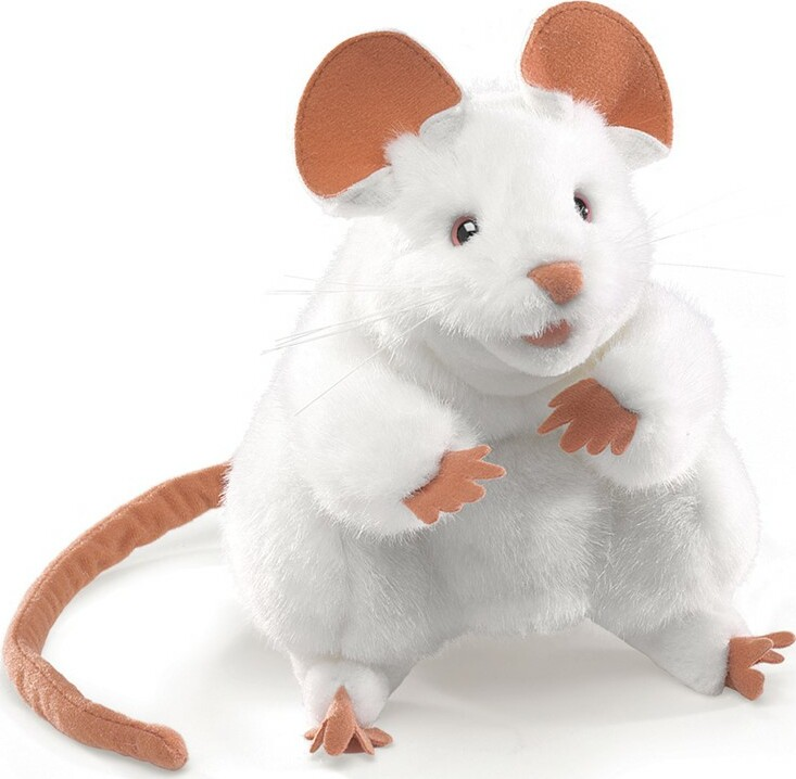 White Mouse Hand Puppet - Givens Books and Little Dickens