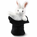 Rabbit In Hat Hand Puppet
