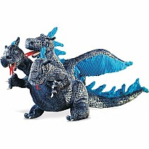 Blue Three-Headed Dragon Puppet