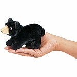 Mini Bear, Black Finger Puppet