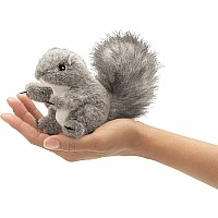 MINI GRAY SQUIRREL finger puppet