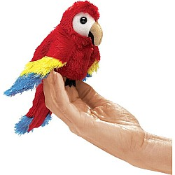 Mini Macaw, Scarlet Finger Puppet