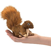 Mini Squirrel Red Finger Puppet