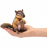 Mini Chipmunk With Acorn Finger Puppet