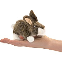Mini Cottontail Rabbit Finger Puppet