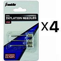 Franklin Sports Metal Inflating Needles Heavy Duty 3 Pc For Ball Pump