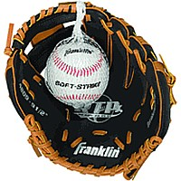 Teeball Glove and Ball (righty) Tan/ Black