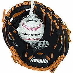 Teeball Glove and Ball (righty) Tan/ Black 9.5