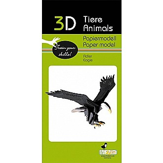3-D Animal Paper Model Bald Eagle