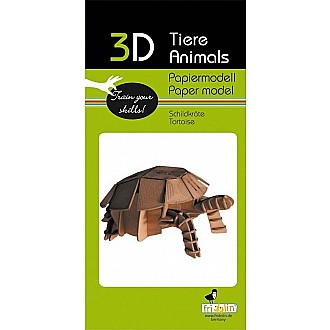 3-D Animal Paper Model Turtle