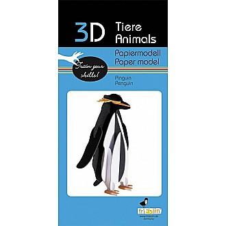 3-D Animal Paper Model Penguin