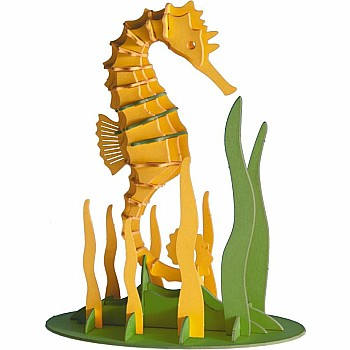 3-D Animal Paper Model Seahorse
