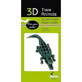 3-D Animal Paper Model Crocodile