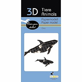 3-D Animal Paper Model Whale Orca