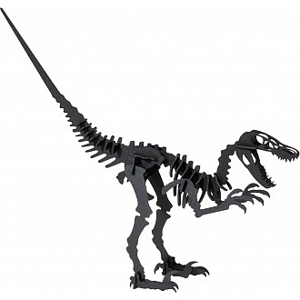 3-D Animal Paper Model Dinosaur Velociraptor