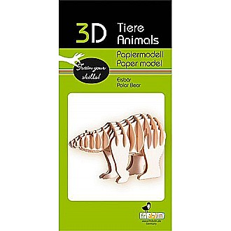 3-D Animal Paper Model Polar Bear