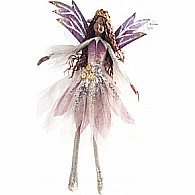 Bendable Fairy Butterfly Purple Silver