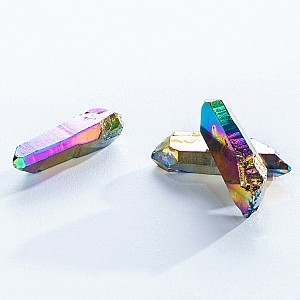 Rainbow Aura Quartz Crystal Points