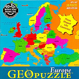 Geopuzzle Europe 58 pieces