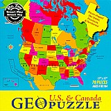 70 Piece Geopuzzle USA and Canada Puzzle