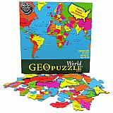 68 Piece Geopuzzle World Puzzle
