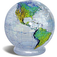 "36"" Clear Topographic Jumbo Inflatable Globe"