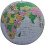 "24"" Blue Political Inflatable Globe"