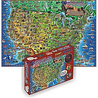 Dino's Children's USA Map 500 PC Jigsaw Puzzle