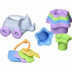 Baby Toy Starter Set (first Keys, Stacking Cups, Elephant)