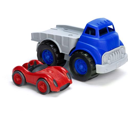 Green Toys Race Car : Green toys flatbed truck race car automobuild