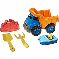 Sand and Water Deluxe Sets: Dump Truck (ob) With Boat (bb)
