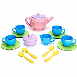 Green Toys Tea Set Pink