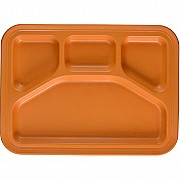 Green Eats Divided Tray - 1 tray per sales unit - Orange