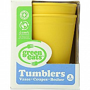 Green Eats Tumblers - 2 per set - Yellow