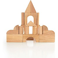 34 pc. Hardwood Unit Block Set