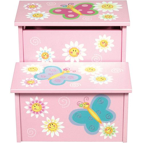 Butterfly Storage Step Stool Stevensons Toys