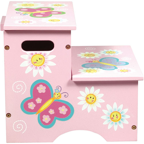 Butterfly Storage Step Stool Stevensons Toys